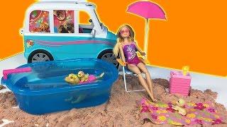 Barbie Sevimli Köpeği Tuffy ve YENİ Oyuncak Plaj Seti | Barbie Türkçe izle | EvcilikTV