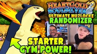STARTER POKEMON GYM POWER | Pokemon Heart Gold Soul Silver RANDOMIZER Ultimate Nuzlocke Soul Link #9