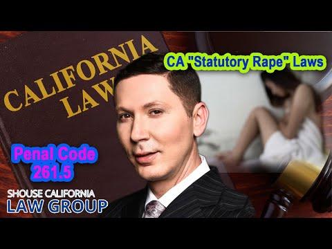 "CA ""Statutory Rape"" Laws   Penal Code 261.5"