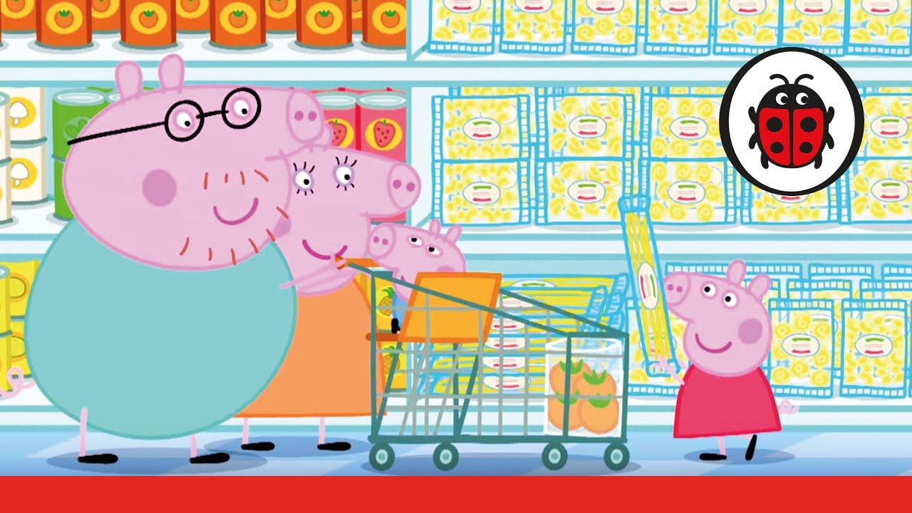 peppa pig let 39 s go shopping peppa storybook youtube. Black Bedroom Furniture Sets. Home Design Ideas
