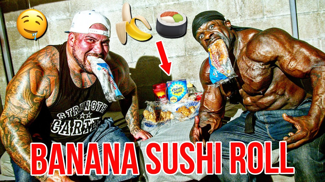 Banana Cookie Sushi Roll - Quick and Cheap High Calorie Dessert | Kali Muscle + Big Boy