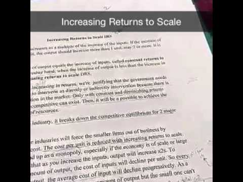 Increasing returns to scale عوائد الحجم