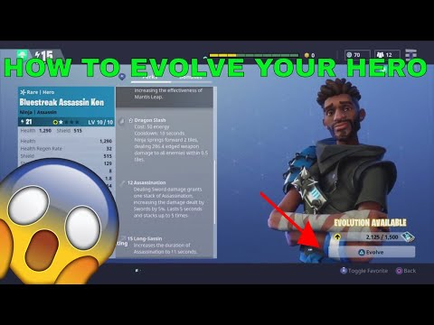 HOW TO EVOLVE YOUR HERO IN FORTNITE - Fortnite In Depth Guide