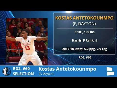 Dallas Mavericks Select Kostas Antetokounmpo With Pick #60 In 2nd Round Of 2018 NBA Draft