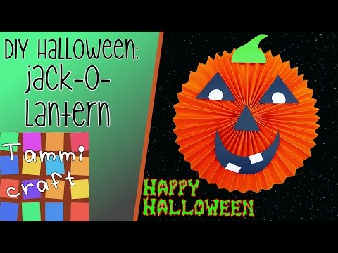 How to Make a Jack o Lantern out of Paper  - Great for kids to make