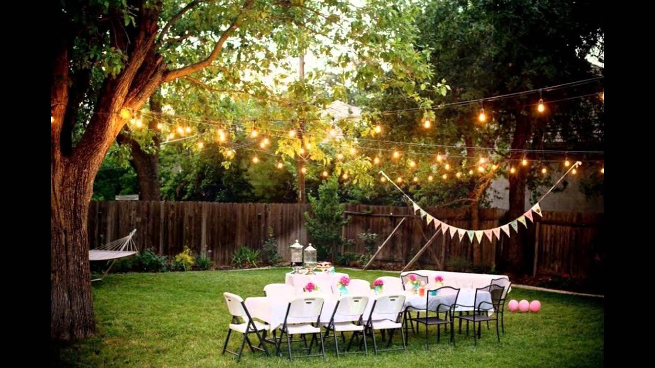 Backyard Weddings On A Budget YouTube - Cheap backyard wedding ideas