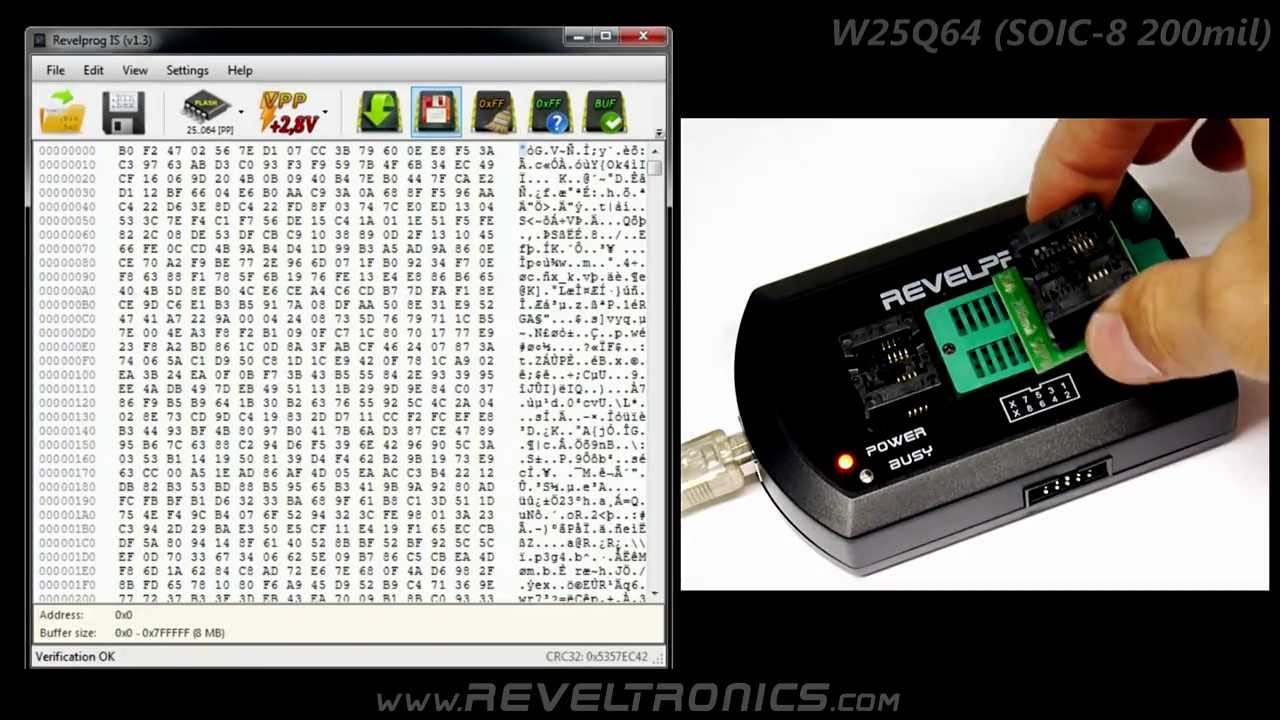 W25q64 Flash Spi Bios Programming With Revelprog-is