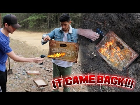 Thumbnail: BURNING THE OUIJA BOARD GONE WRONG // THE BOARD WOULDNT BURN!