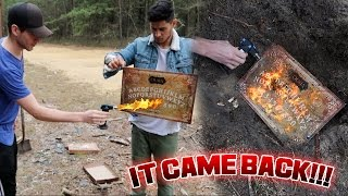 BURNING THE OUIJA BOARD GONE WRONG // THE BOARD WOULDNT BURN!