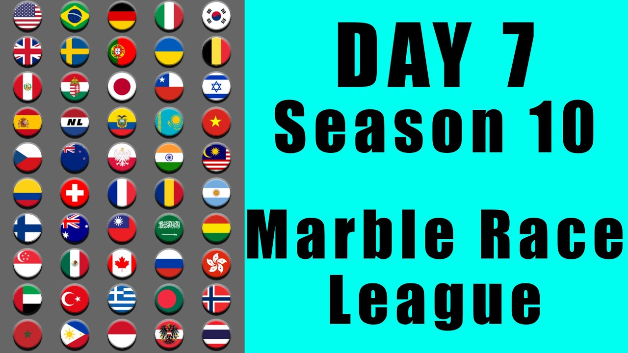 Marble Race League 2020 Season 10 Day 7 Marble Point Race in Algodoo / Marble Race King