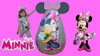 disney minnie mouse videos super giant surprise egg   playing with minnie mouse toys   kids video