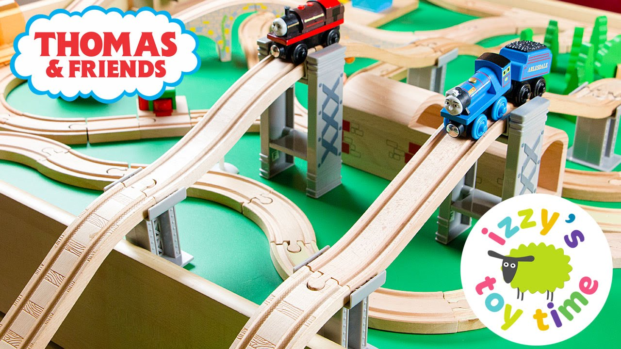 Thomas And Friends Wooden Play Table | Thomas Train And The Garbage Chute |  Toy Trains For Kids   YouTube
