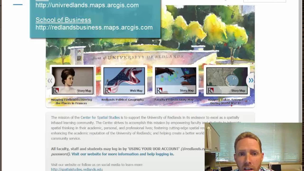 Logging In To ArcGIS Online | University of Redlands