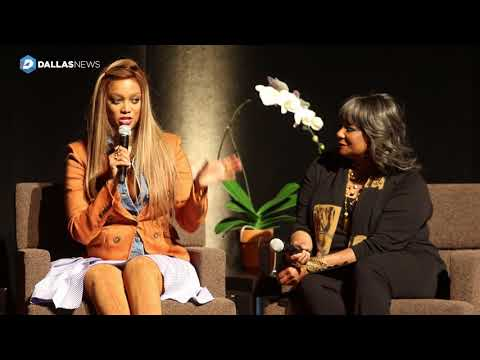 Tyra Banks spills the tea at Wyly Theatre on Wednesday night