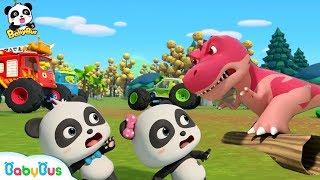Mobil Monster Lebih Kuat Daripada Dino | Lagu Anak-anak | BabyBus Bahasa Indonesia