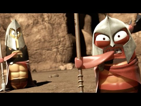 LARVA - LARVA SPARTANS | LARVA 300 | 2018 Cartoon | Cartoons For Children | WildBrain Cartoons