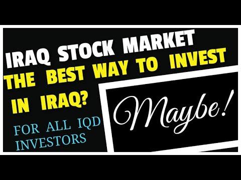 Iraq Stock Market  IQD Investment NASDAQ Agreement
