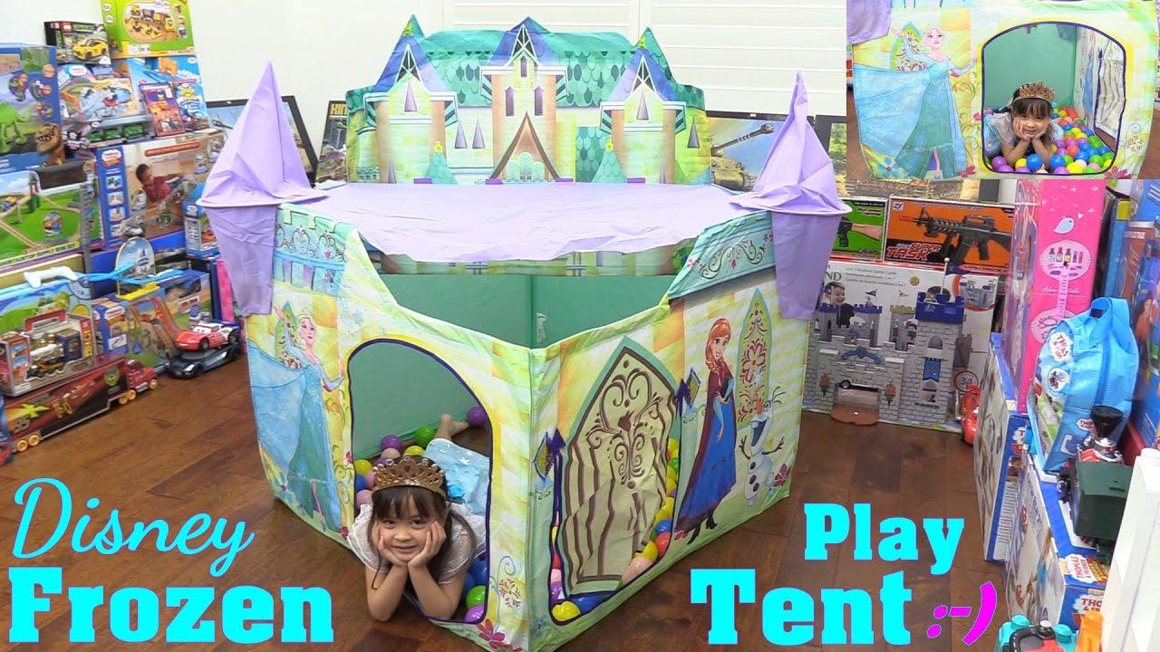 Disney Play Tent Amp Disney Frozen Castle Play Tent Unboxing