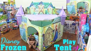 Disney Frozen Castle Play Tent Unboxing and Playtime with Hulyan & Maya. Playhut Play Tent