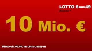 Lotto Mittwoch 05.07.2017: Lottozahlen Ziehung - heute lockt 10 Mio.-Jackpot