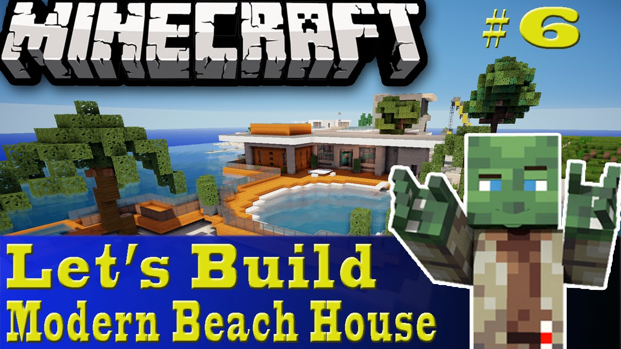 Minecraft let 39 s build modern beach house 6 youtube for Lets build modern house 7
