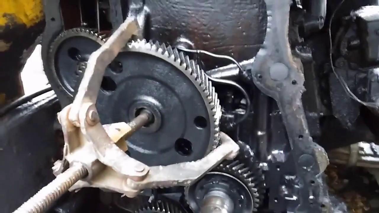 Ремонт двиг. Бульдозера Т-130 ЧТЗ Замена шестерни распредвала
