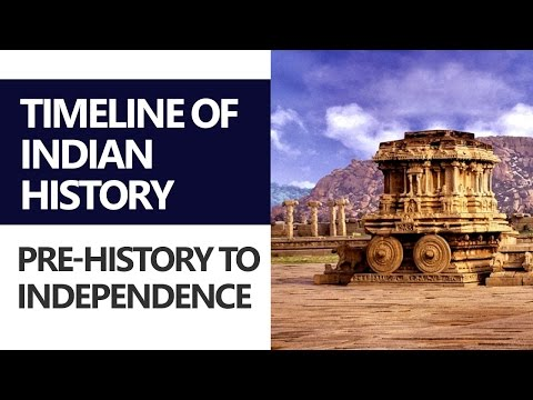 (1/2) Timeline of Indian History: Pre-history to Independence [UPSC CSE/IAS, SSC CGL, Bank PO]
