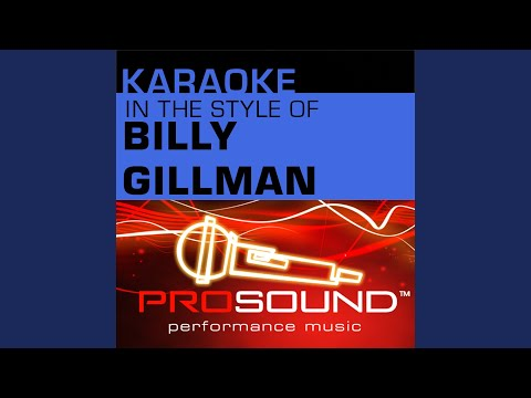 One Voice (Karaoke Instrumental Track) (In the style of Billy Gilman)