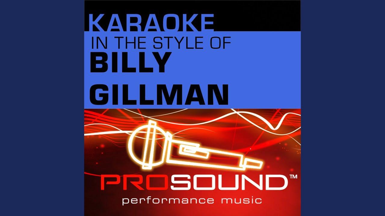 One voice billy gilman karaoke cds