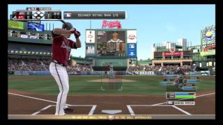 MLB 13 The Show| Live First impression| Atlanta Braves v.s. Arizona Diamondbacks