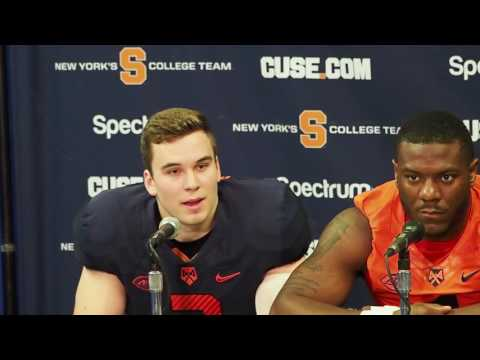 Syracuse coach Babers and players Spring football press conference