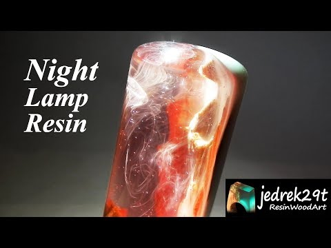 DIY. Night Lamp with Resin and Wood 💡/ ART RESIN