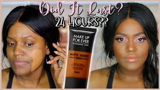 I WORE IT FOR 24 HOURS! MAKEUP FOREVER MATTE VELVET FULL COVERAGE FOUNDATION! First Impressions