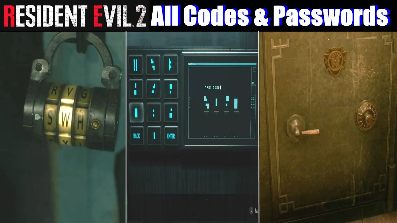 RE2 All Locker Codes & Safe Combinations - Resident Evil 2 Remake PS4 Pro