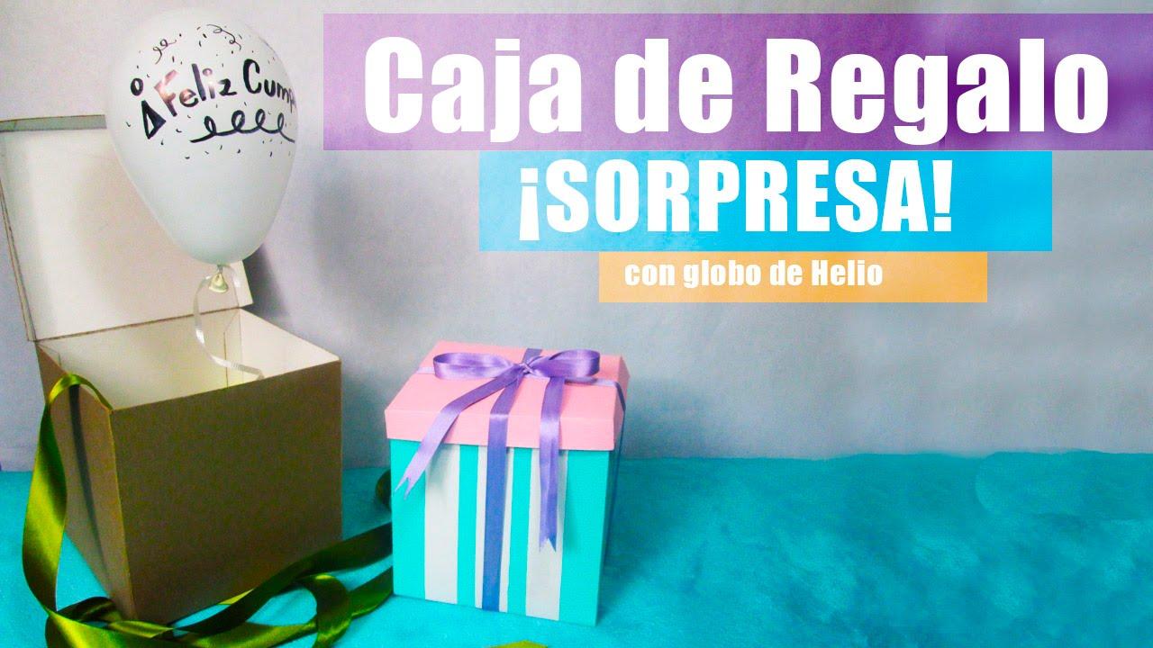 Caja de regalo u00a1SORPRESA! con globo de helio CookingPaper YouTube