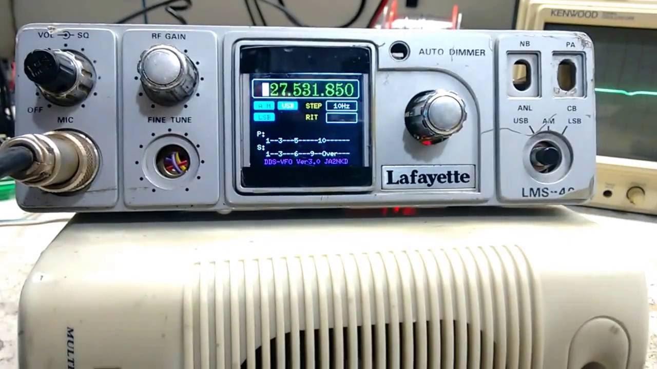 OutroTeste com novo VFO DDS no lugar do PLL Lafayette LMS 40