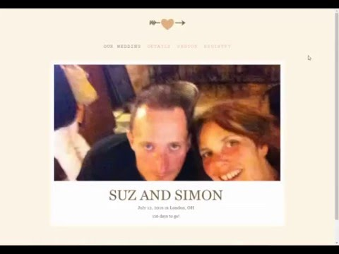 How to create a wedding website using the knot