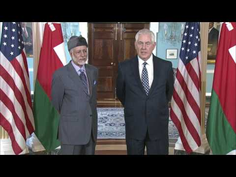Secretary Tillerson Meets With Oman Foreign Minister Yusuf bin Alawi bin Abdullah