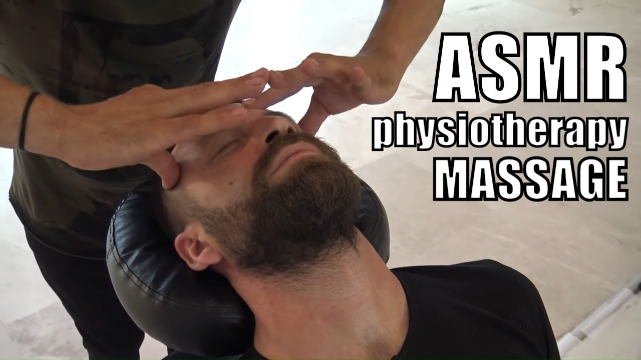ASMR physiotherapy calming chair back and foot massage + turkish amazing head, arm, sleep massage