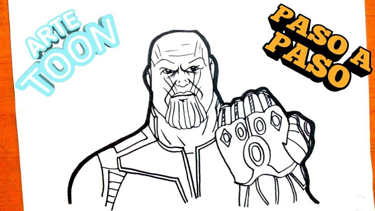 Fácil Como Dibujar A Thanos Paso A Paso