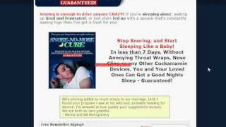 treatment of snoring by natural way