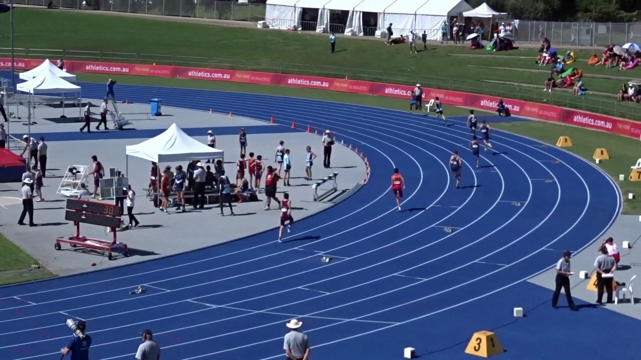 U 15yrs 400m Men Final Australian Athletics Championships Olympic Park Sydney 1 04 2017