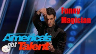 America's Got Talent || Lioz Shem Tov Full audition || Funny Magician