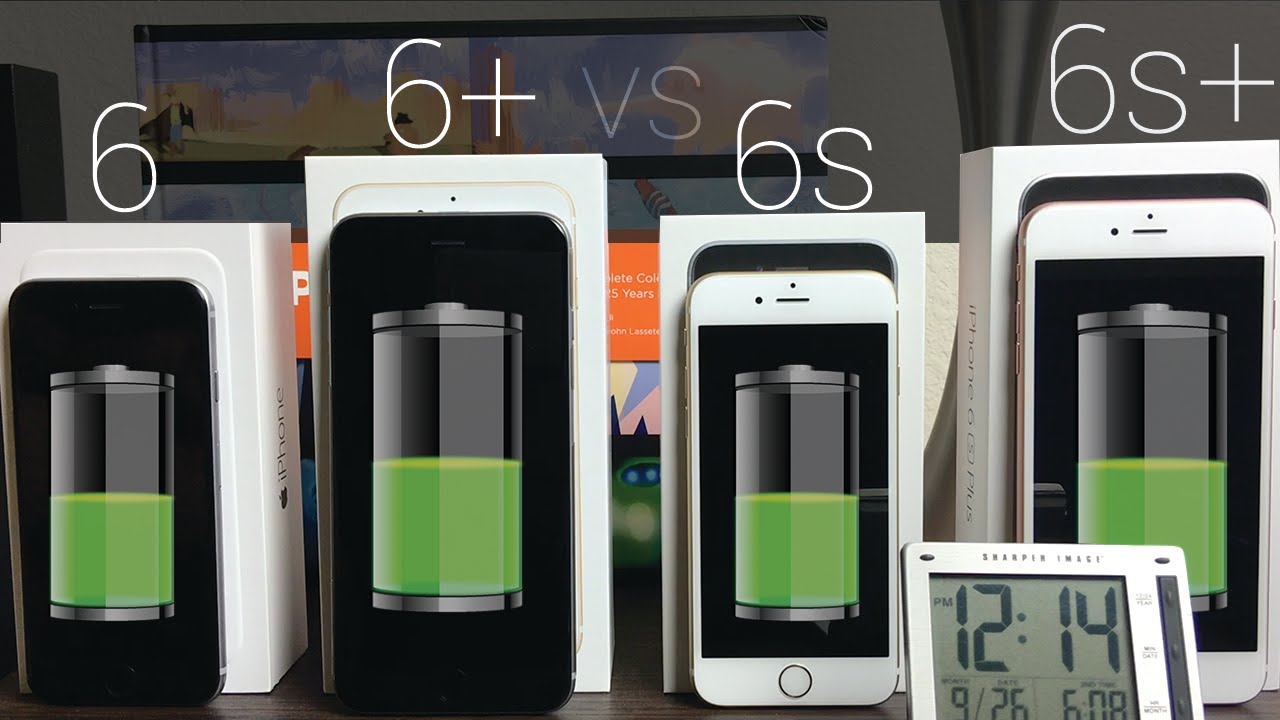 battery life iphone 6s vs iphone 6s plus vs iphone 6 6 plus youtube