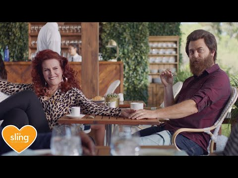 Sling TV Exposes Nick Offerman and Megan Mullally as