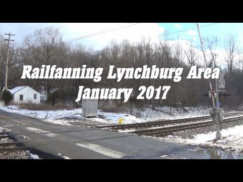 Railfanning Norfolk Southern and CSX Lynchburg Area - HD