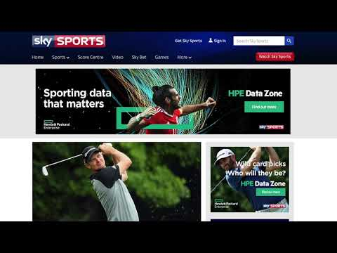 HPE in partnership with Sky Sports