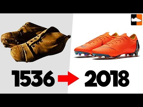 The evolution of football boots!! soccer cleat history
