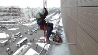 Санкт-Петербург. Промышленный альпинизм. ТРК Международный(Установка снегозадержания. Вторник 27 января 2015 года., 2015-01-31T09:41:23.000Z)