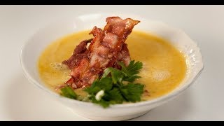 Гороховый суп-пюре с беконом | Суповарение